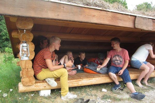 Shelters ved Pindstrup Centret